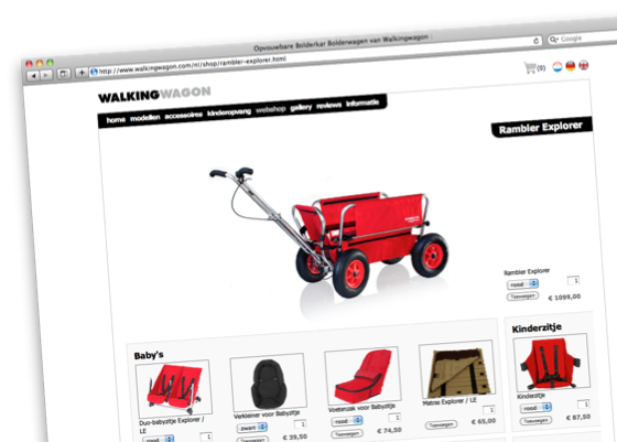 walking wagon - webshop