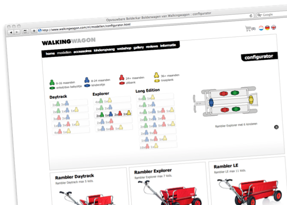 walking wagon - configurator